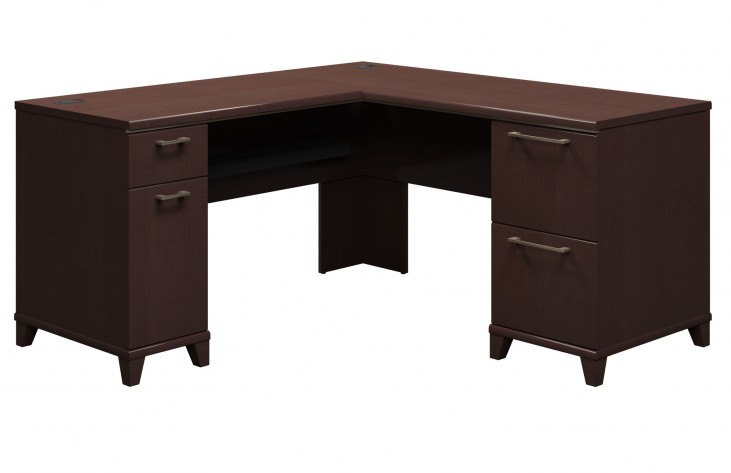 Enterprise Mocha Cherry 60 Inch L Desk