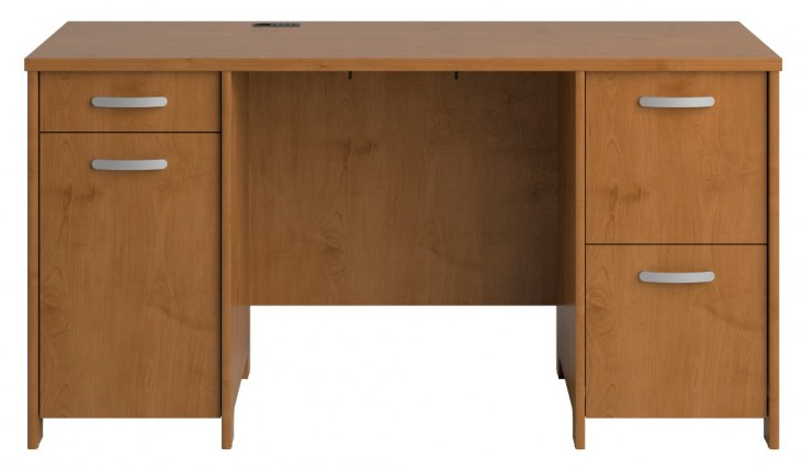 Envoy Natural Cherry Double Pedestal Desk