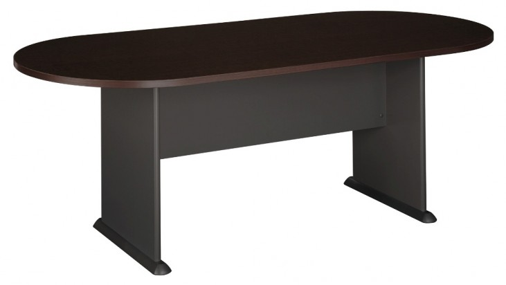 Series C Mocha Cherry 82 Inch Racetrack Conference Table