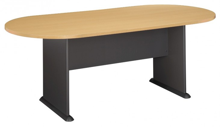 Series A Beech 82 Inch Racetrack Conference Table