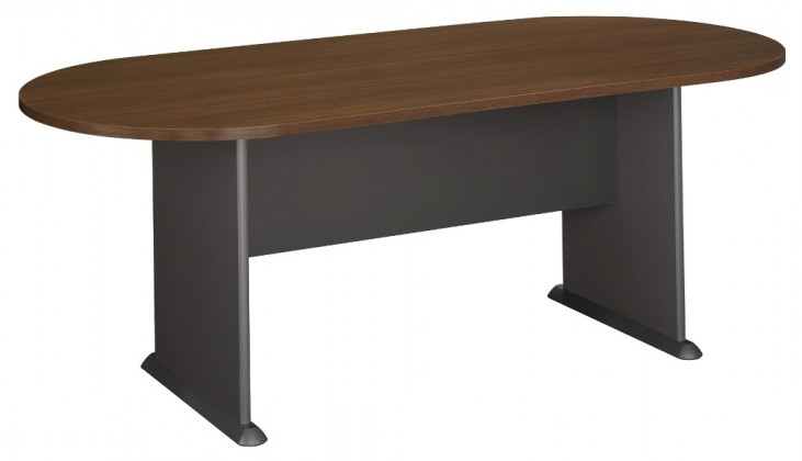 Series A Sienna Walnut 82 Inch Racetrack Conference Table