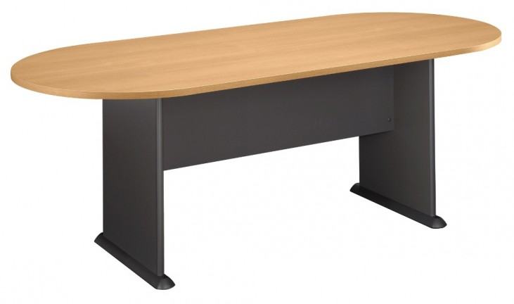 Series A Light Oak 82 Inch Racetrack Conference Table