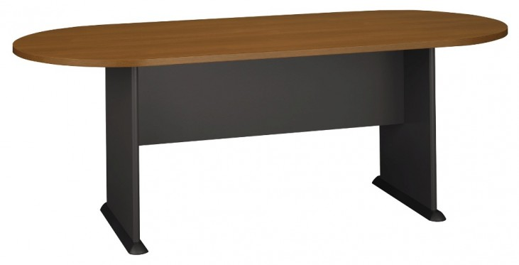 Series C Warm Oak 82 Inch Racetrack Conference Table