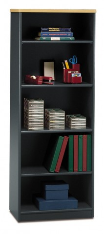 Series A Beech 26 Inch 5-Shelf Bookcase