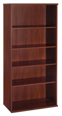 Series C Hansen Cherry 36 Inch 5-Shelf Bookcase