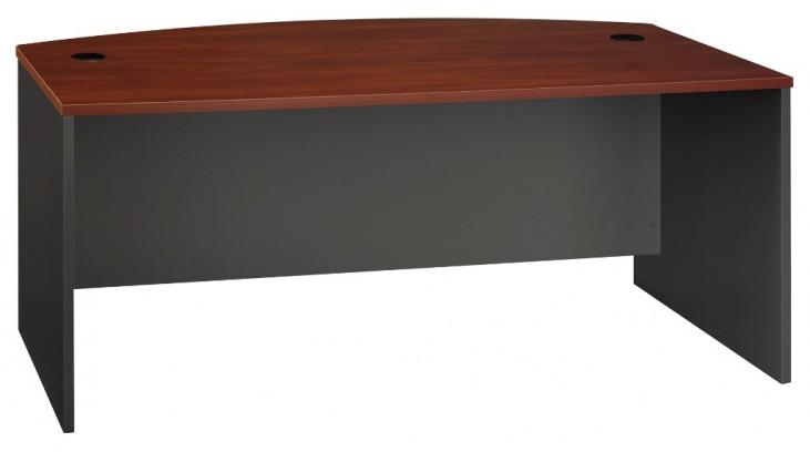 Series C Hansen Cherry 72 Inch Bow Front Desk Shell