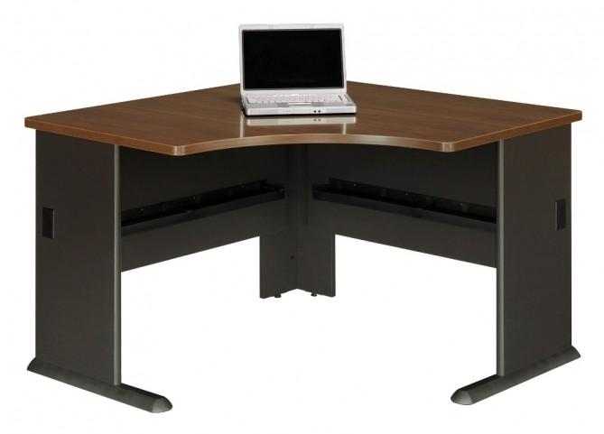 Series A Sienna Walnut 48 Inch Corner Desk