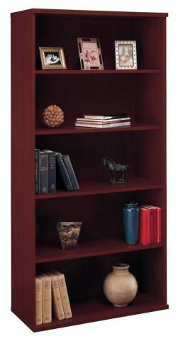 Series C Mahogany 36 Inch 5-Shelf Bookcase