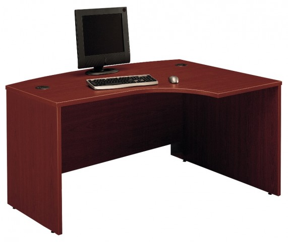 Series C Mahogany 60 Inch RH L-Bow Desk Shell
