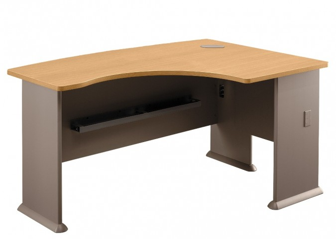 Series A Light Oak 60 Inch RH L-Bow Desk