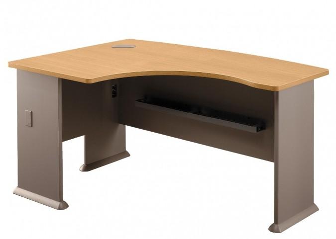 Series A Light Oak 60 Inch LH L-Bow Desk