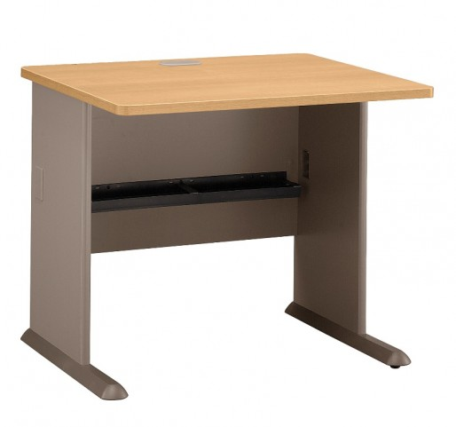 Series A Light Oak 48 Inch Corner Desk