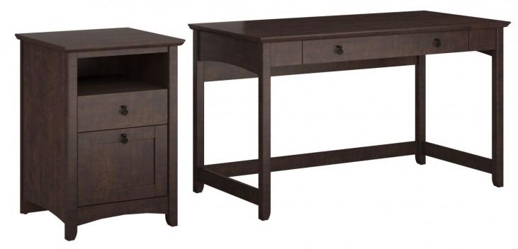 Buena Vista Madison Cherry Writing Desk With 2 Drawer Pedestal