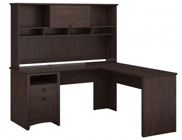 Buena Vista Madison Cherry L-Desk With Hutch