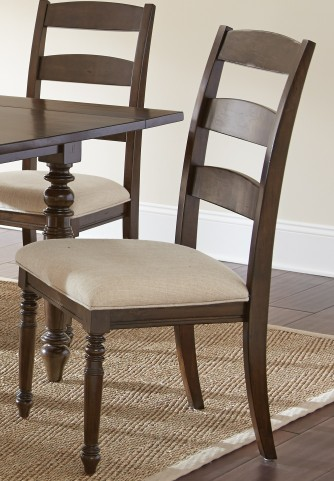 Bexley Warm Espresso Side Chair Set of 2
