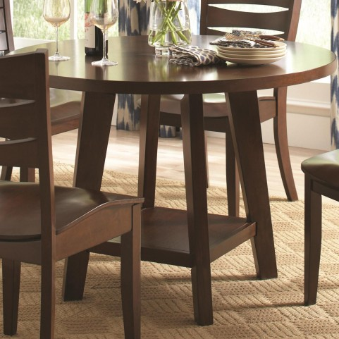 Byron Dark Brown Round Dining Table
