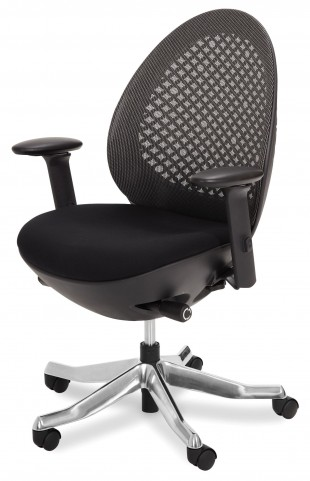 Linq Mid Charcoal Swivel Chair