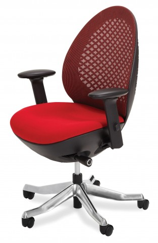 Linq Mid Red Swivel Chair