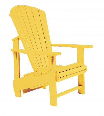 Generations Yellow Upright Adirondack Chair