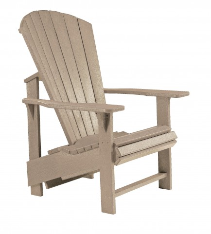 Generations Beige Upright Adirondack Chair