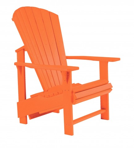 Generations Orange Upright Adirondack Chair