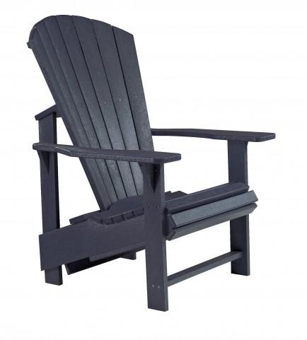 Generations Black Upright Adirondack Chair