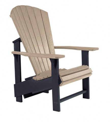 Generations Beige/Black Upright Adirondack Chair