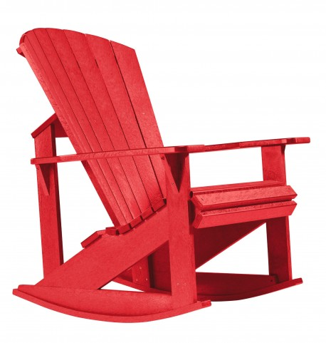 Generations Red Adirondack Rocking Chair