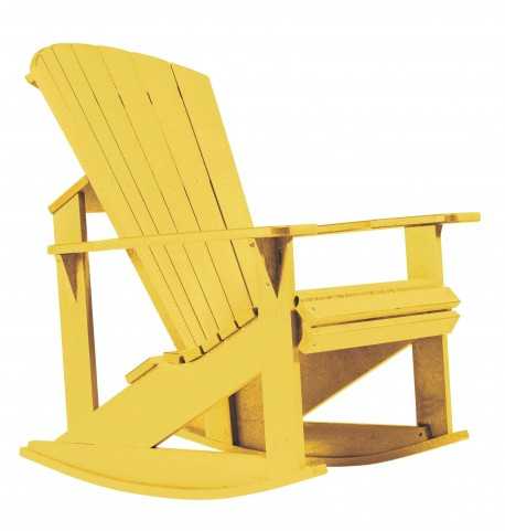 Generations Yellow Adirondack Rocking Chair