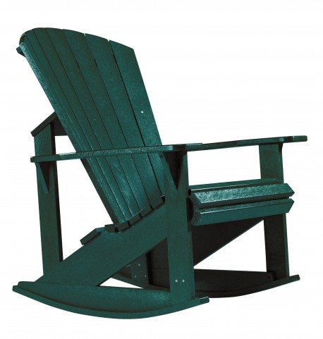 Generations Green Adirondack Rocking Chair
