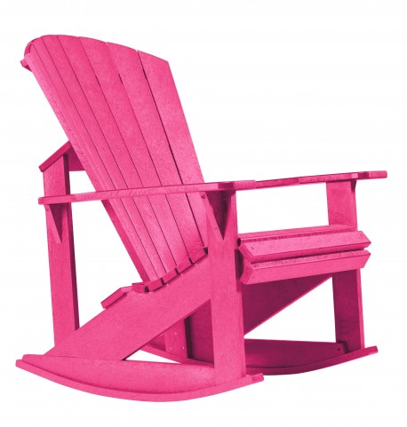 Generations Fuschia Adirondack Rocking Chair