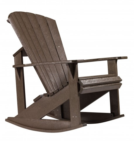 Generations Chocolate Adirondack Rocking Chair