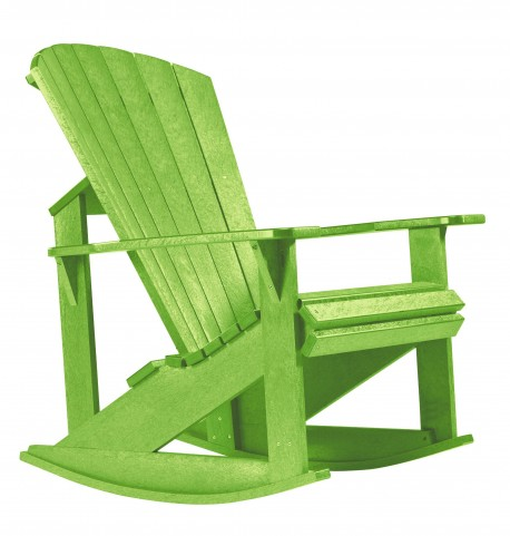 Generations Kiwi Lime Adirondack Rocking Chair