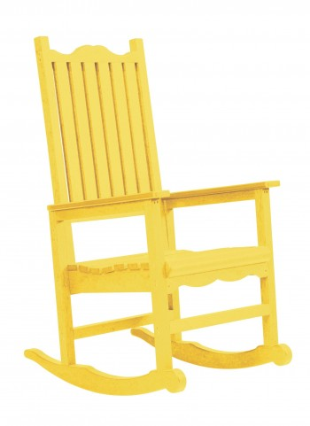 Generations Yellow Casual Porch Rocker