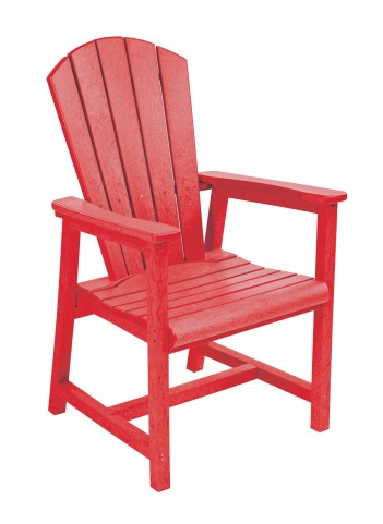 Generations Red Adirondack Dining Arm Chair