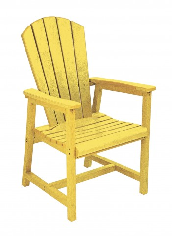Generations Yellow Adirondack Dining Arm Chair