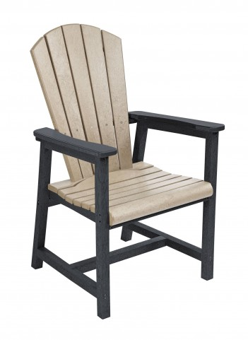 Generations Beige/Black Adirondack Dining Arm Chair