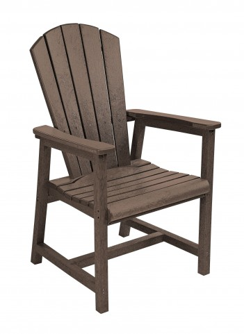 Generations Chocolate Adirondack Dining Arm Chair