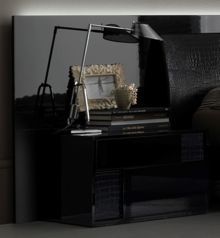 Nightfly Black Left Nightstand
