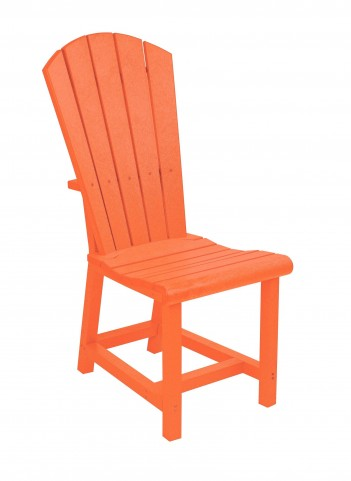 Generations Orange Adirondack Dining Side Chair