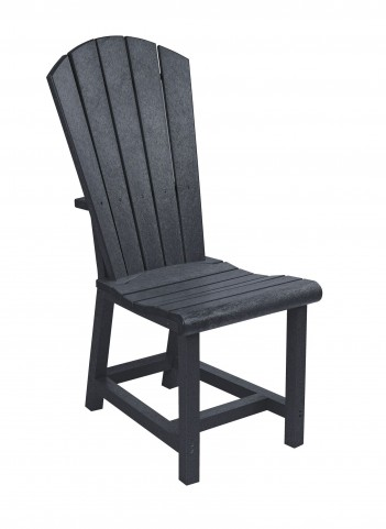 Generations Black Adirondack Dining Side Chair