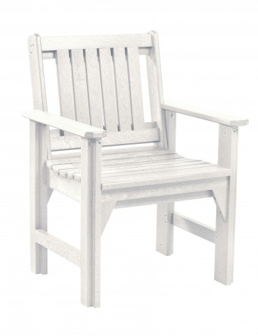 Generations White Slat Back Dining Arm Chair
