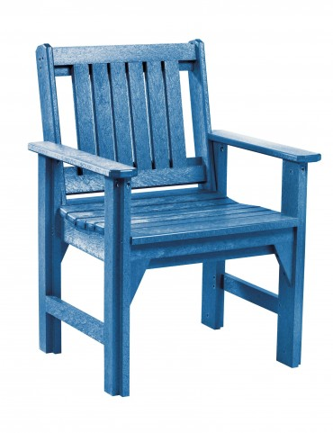 Generations Blue Slat Back Dining Arm Chair