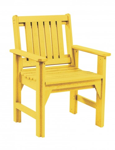 Generations Yellow Slat Back Dining Arm Chair
