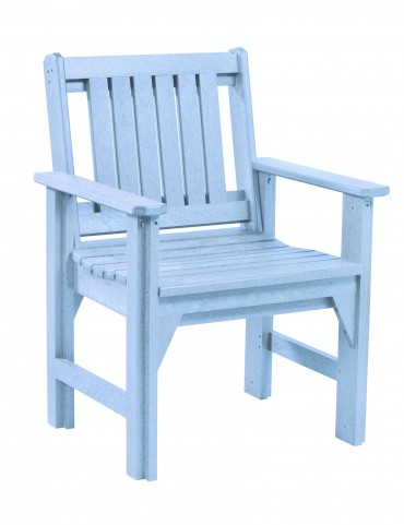 Generations Sky Blue Slat Back Dining Arm Chair