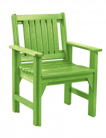 Generations Kiwi Lime Slat Back Dining Arm Chair
