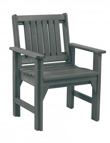 Generations Slate Slat Back Dining Arm Chair