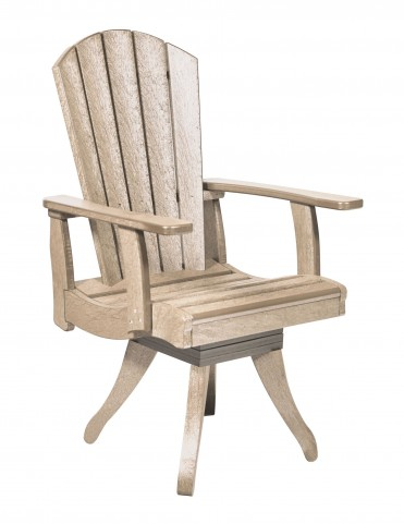 Generations Beige Swivel Dining Arm Chair