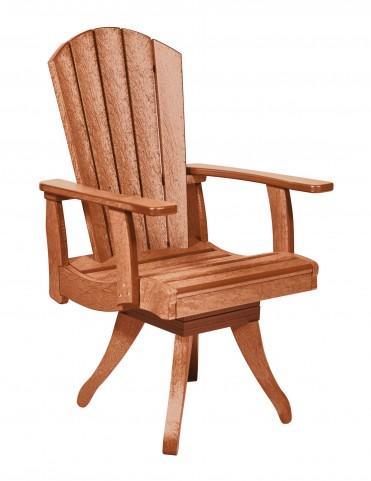 Generations Cedar Swivel Dining Arm Chair