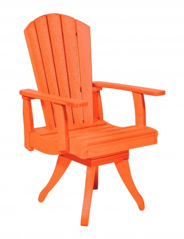 Generations Orange Swivel Dining Arm Chair